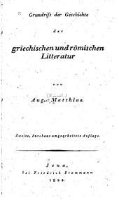 Grundriss der Geschichte der griechischen und römischen Litteratur
