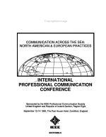 IPCC 90, Communication Across the Sea, North American & European Practices