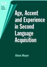Age  Accent  and Experience in Second Language Acquisition PDF