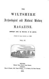 The Wiltshire Archæological and Natural History Magazine: Volume 4
