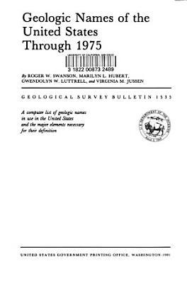 Geologic Names of the United States Through 1975 PDF