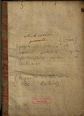 Egregia Ioannis de Werdea proverbia: magnam philosophie partem in se continentia