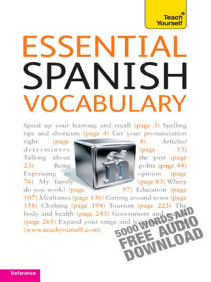Essential Spanish Vocabulary  Teach Yourself