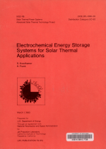 Electrochemical Energy Storage Systems for Solar Thermal Applications