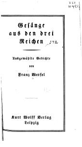 Gesänge aus den drei Reichen: ausgewählte Gedichte