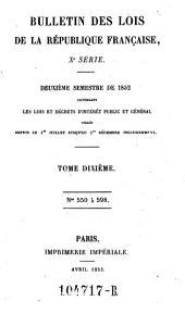 Bulletin des lois de la Republique Francaise: Volume10;Volumes1810à1811;Volume1852