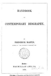 Handbook of Contemporary Biography
