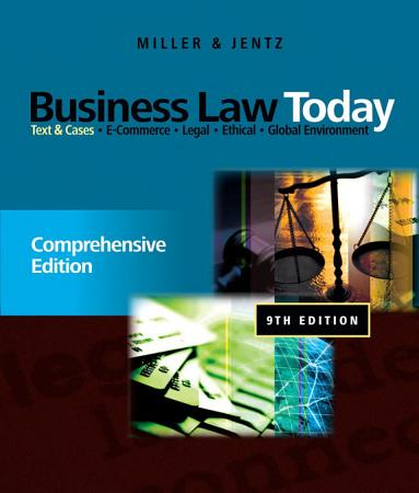Business Law Today  Comprehensive  Text and Cases PDF