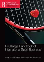 Routledge Handbook of International Sport Business PDF