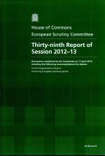 Thirty-ninth report of session 2012-13