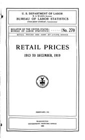 Retail Prices and Cost of Living Series ...: Issues 19-21