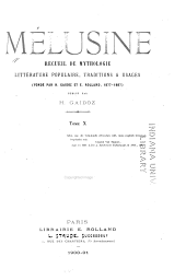Mélusine: Volume 10