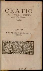 Oratio M. Tullii Ciceronis Pro Marco Caelio