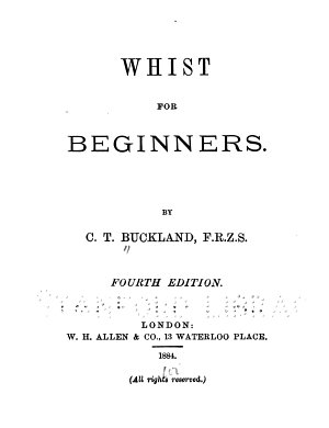 Whist for Beginners PDF