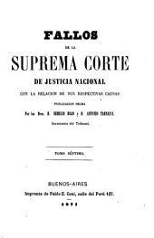 Fallos de la Corte Suprema de Justicia de la Nación: con la relación de sus respectivas causas ..., Volumen 7