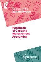 Handbook of Cost and Management Accounting PDF
