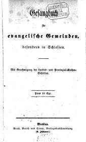 Gesangbuch für evangelische Gemeinden, besonders in Schlesien