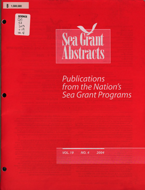 Sea Grant Abstracts