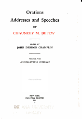 Miscellaneous speeches