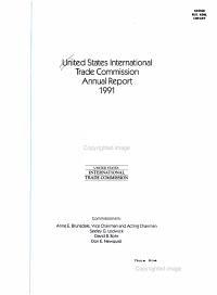 United States International Trade Commission Annual Report 1991 PDF
