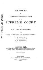 Wisconsin Reports: Cases Determined in the Supreme Court of Wisconsin, Volume 40
