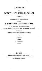 Annales des ponts et chaussées: Partie technique. 1re partie