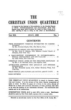 The Christian Union Quarterly PDF