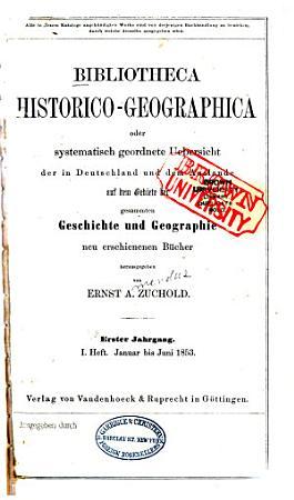 Bibliotheca historico geographica PDF