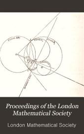 Proceedings of the London Mathematical Society: Volume 20