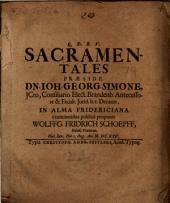 De sacramentalibus, disp
