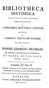 Bibliotheca historica: Voluminis XI. pars II.