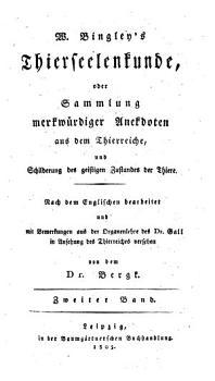 Biographien der Thiere  oder Anekdoten von den F  higkeiten  der Lebensart  den Sitten und der Haushaltung der thierischen Sch  pfung PDF
