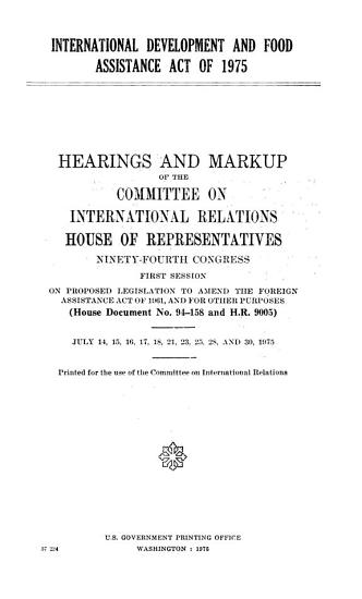International Development and Food Assistance Act of 1975 PDF