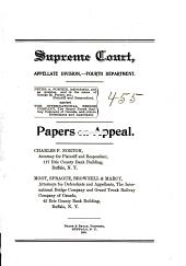 Supreme Court Appellate Division Fourth Department Papers on Appeal