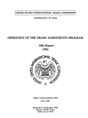 Operation of the Trade Agreements Program PDF