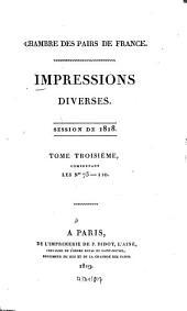 Impressions diverses: session ... 1818,3 (1819)