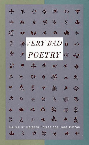 Download Very Bad Poetry Book