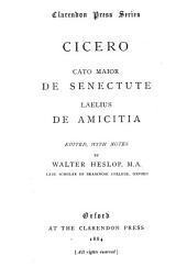 Cato Maior De senectute ; Laelius De amicita