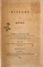 History of Rome by Thomas Arnold: From the end of the First to the end of the Second Punic war, Volume 3