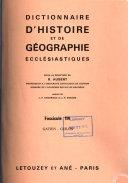 Dictionnaire d histoire et de g  ographie eccl  siastiques PDF