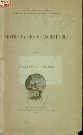 Textile Fabrics of Ancient Peru: Volumes 7-11