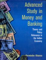 Advanced Study in Money and Banking PDF