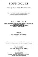 Sophocles  The Oedipus Tyrannus  2d ed  1893 PDF