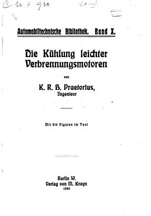 Die K  hlung leichter Verbrennungsmotoren PDF