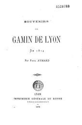 Souvenirs d'un gamin de Lyon, de 1814