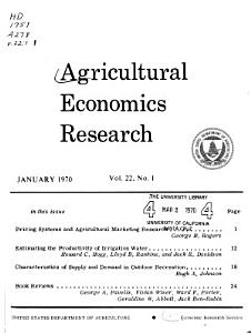 Agricultural Economics Research PDF