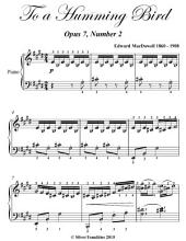 To a Humming Bird Opus 7 Number 2 - Intermediate Piano Sheet Music