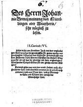 Des Herrn Johannis Brentij meinung von Mitteldingen oder Adiaphoris: sehr nützlich zu lesen