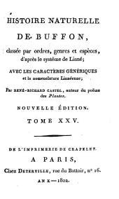 Histoire Naturelle: classée par ordres, genres et espèces, d'après le système de Linnée : avec les Caractères génériques et la nomenclature Linnéenne. Oiseaux ; T. 15, Volume25