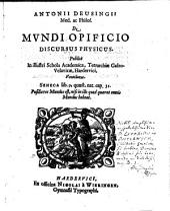 De mundi opificio Discursus phys